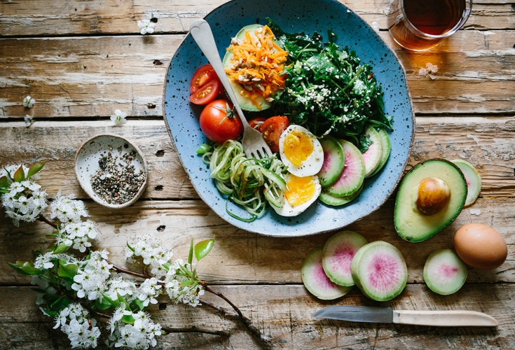 food to gain weight on a brown table