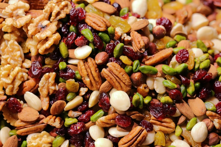 cooked beans which help in gaining weight