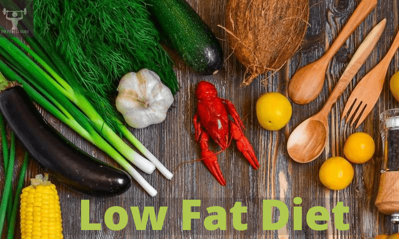 low fat diet with vegetable and kitchen utensils