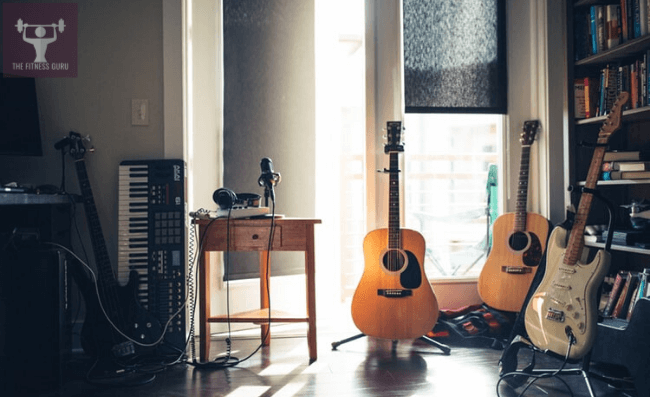 some music instruments like guitar, keyboard and more