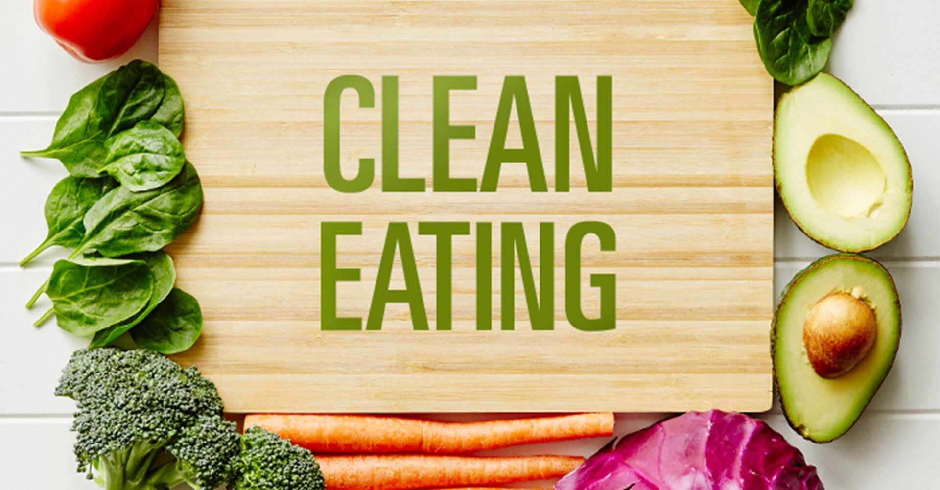 clean eating on a wooden board with vegetable