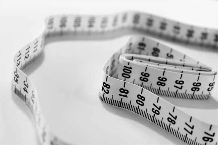 measuring tape to show affect of a low-fat diet